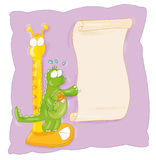 Green Dragon is weighed. With parchment Royalty Free Stock Photography
