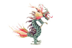 Green dragon on white background Stock Images