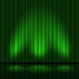 Green drapes Stock Photos