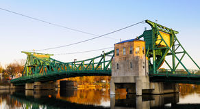Green drawbridge Stock Photos