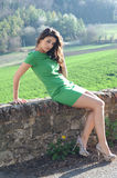 Green dress Royalty Free Stock Photography