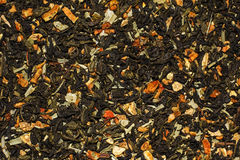 Green dried fruit tea Royalty Free Stock Image