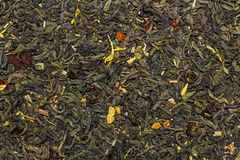 Green dried fruit tea Royalty Free Stock Images