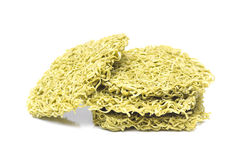 Green dried noodles Royalty Free Stock Photo