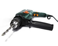 Green driil. Green  drill with boring bit Royalty Free Stock Photography