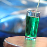 Green drink. On the table Royalty Free Stock Photography