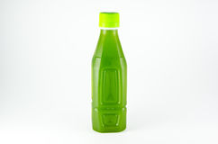 Green drink in bottle Stock Photography