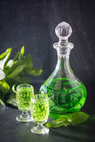 Green drink with soda Stock Image