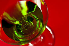Green drinks in martini glass Stock Photography