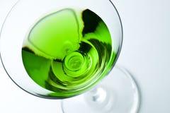 Green drinks in martini glass Stock Photo