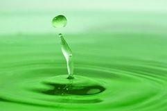 Green drop Royalty Free Stock Photo