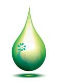 Green drop. Green eco fuel drop,  illustration Royalty Free Stock Photos