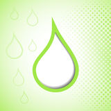 Green drop background Royalty Free Stock Photography