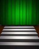 Green drop scene royalty free illustration