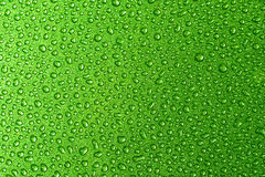 Green droplets. Of water Royalty Free Stock Photo