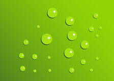 Green drops. Green Background with green drops Royalty Free Stock Photos