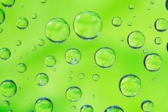 Green Drops Background Stock Photo