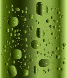 Green drops illustration Stock Photography