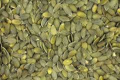 Green dry pumpkin seeds  background Royalty Free Stock Photography