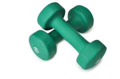 Green dumbbell Stock Photos