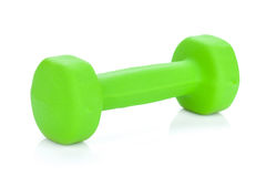 Green dumbell Stock Photography