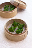 Green Dumpling. Is a kind of traditional Chinese dumpling served as dim sum Stock Image