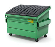 Green Dumpster - 3D illustration Royalty Free Stock Photo