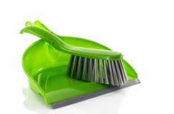 Green dustpan Stock Image