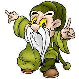 Green Dwarf. Dwarf 10 - colored cartoon illustration as vector Stock Photography