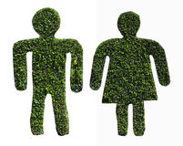 Green dwarf of men and women stock image