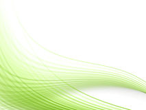 Green dynamic lines Royalty Free Stock Photos