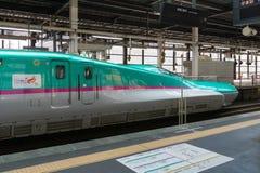 The green E5 Series bullet (High-speed,Shinkansen) train. Stock Images