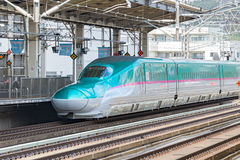 The green E5 Series bullet(High-speed) train. Stock Images