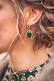 Green earring Royalty Free Stock Images