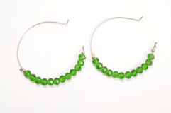 Green earrings Stock Image