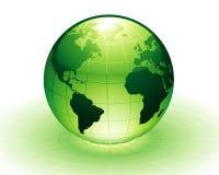 Green Earth. Vector: green earth, environmental protection Royalty Free Stock Photos
