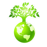 Green earth Stock Photo