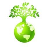 Green earth. The world environment worsens gradually, environmental pollution into present most popular topic stock illustration