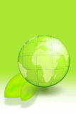 Green earth. On a white ball illustration isolated on white background Royalty Free Stock Photos