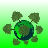 Green planet earth Stock Images