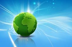Green earth. Concept; 3d render Stock Photos