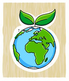 Green earth Royalty Free Stock Images