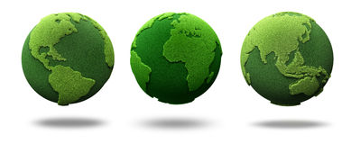 Green earth. Concept; 3d render Stock Images
