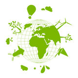Green Earth. Abstract illustration of green Earth - concept of ecology Stock Image