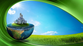 Green earth royalty free illustration
