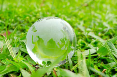 Green earth. Concept of protecting planet earth, global warming Royalty Free Stock Photos