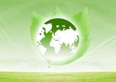 Green Earth. Concept,Saving The Earth With Green Energy Royalty Free Stock Image