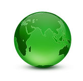Green Earth. Shiny blue globe created in Photoshop Stock Image
