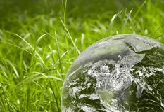 Green earth. Green grass and earth image Royalty Free Stock Photo
