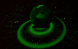 Green earth. 3D photorealistic shiny green Earth. Many metaphorical uses Royalty Free Stock Photography